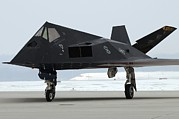 Fighters Posters - F-117 Nighthawk Stealth Fighter Poster by Everett
