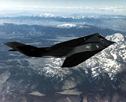 Fighters Posters - F-117a Nighthawk Was The First Poster by Everett