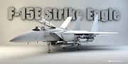 Cinema 4d Prints - F-15E Strike Eagle Print by Dale Jackson