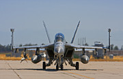 Jet Originals - F 18  Jet on the Tarmac by Mark Hendrickson