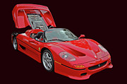Super Car Prints - F 50 Print by Bill Dutting