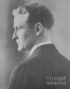 Famous Novel Framed Prints - F. Scott Fitzgerald, American Author Framed Print by Photo Researchers