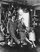 Christmas Tree Photos - F. Scott Fitzgerald Family by Granger