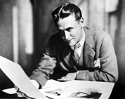 Fitzgerald Posters - F. Scott Fitzgerald In The Late 1920,s Poster by Everett