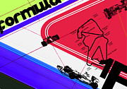 Racing Mixed Media Posters - F1 Poster by Irina  March