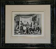 Original Lithographs Drawings - F7 Minstrel Show by Thomas Hart Benton