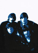 Band Painting Originals - Fab Four by Chris Cox