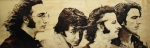 George Harrison Pyrography Posters - Fab Four Poster by Michael Garbe