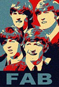 Fab Four Print by Paul Van Scott