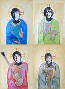 Byzantine Painting Prints - Fab Four Print by Philip Atkinson