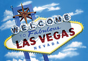 Icon Reproductions Metal Prints - Faboulous Las Vegas Metal Print by Anthony Ross