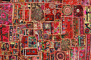 Textile Art Prints - Fabric Art - Patch Work Print by Milind Torney