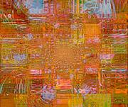 Experience Tapestries - Textiles Metal Prints - Fabric Two Metal Print by Fania Simon