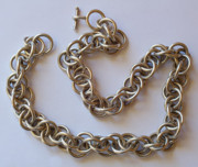 Hand Made Jewelry - Fabricated chain by Clayton Peshlakai