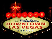 Electric Signs Prints - Fabulous Downtown Print by Randall Weidner