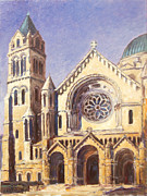 Louis Paintings - Facade of Cathedral Basilica in St.Louis by Irek Szelag