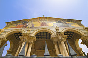 Olives Photo Posters - facade of Church of all Nations Jerusalem Poster by Ilan Rosen
