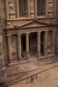 Facade Of The Treasury In Petra, Jordan Print by Richard Nowitz