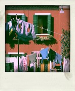 Colored Facades Posters - Facades of Burano. Venice Poster by Bernard Jaubert