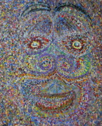 Trippy Painting Metal Prints - Face 2 Metal Print by Dylan Chambers
