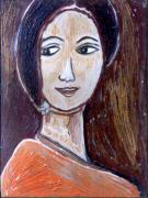 Oils Originals - Face 9 by Anand Swaroop Manchiraju