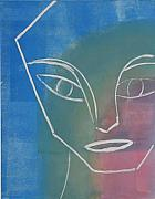 Printmaking Mixed Media - Face Angles by Libby  Cagle