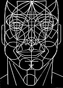 All Sides Posters - Face Geometrized Poster by Paulo Zerbato