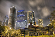 Colorful Photos Originals - Face in the Clouds at Millennium Park by Jeramie Curtice