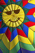Smiley Faces Prints - Face inside hot air balloon  Print by Garry Gay