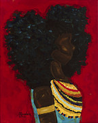 African-american Paintings - Face It by S Goodwin