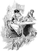 Face Mask Production, 19th Century Print by