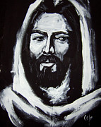 Religious Art Paintings - Face of Christ CCSA by Larry Cole