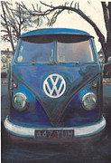 Volkswagen Pastels Prints - Face Off Print by Sharon Poulton