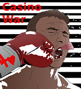 Boxing Digital Art - Face Punched Casino War Propaganda by Casino Artist