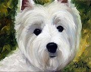 Westie Art - Face Time by Mary Sparrow Smith