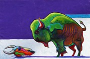 The American Buffalo Art - Face to Face by Joe  Triano