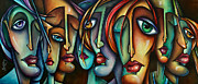Expressions Paintings - Face Us by Michael Lang
