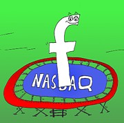 News Mixed Media - Facebook Jumps Onto Nasdaq by OptionsClick BlogArt