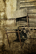 Rural Abandonment Framed Prints - Faced the Elements Framed Print by Larysa Luciw