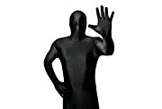 Morph Prints - Faceless Man Giving Stop Sign Print by Evelyn Peyton
