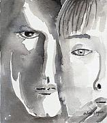 Two Faces Posters - Faces Poster by Arline Wagner