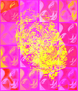 Negative Image Posters - Faces & Fingerprint Poster by Mehau Kulyk