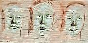 Mixed-media Reliefs - Faces by Kime Einhorn