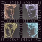 Portraits Tapestries - Textiles Framed Prints - Faces of David in Negative Framed Print by Barbara Lugge