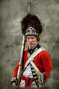 Fort Niagara Digital Art Posters - Faces of the American Revolution British Soldier Portrait Poster by Randy Steele