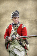 Redcoat Art - Faces of the American Revolution British Soldier by Randy Steele