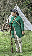 Fort Niagara Prints - Faces of the American Revolution Colonial Soldier Portrait Two  Print by Randy Steele