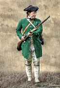 Militaria Prints - Faces of the American Revolution Colonial Soldier Print by Randy Steele