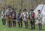 Fort Ligonier Posters - Faces of the American Revolution Militia Soldiers     Poster by Randy Steele