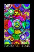 Clocks Posters - Faces Of Time 1 Poster by Mike McGlothlen
